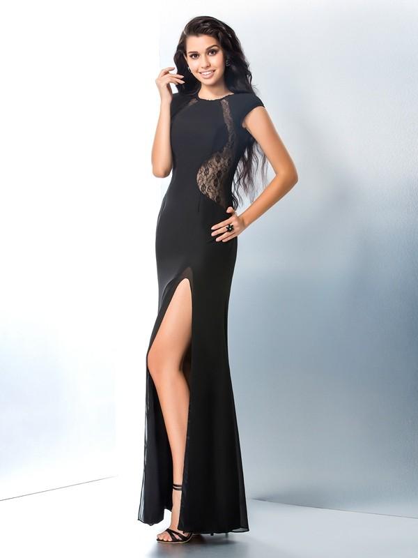 Fresh Picks Mermaid Style Scoop Lace Long Chiffon Dresses