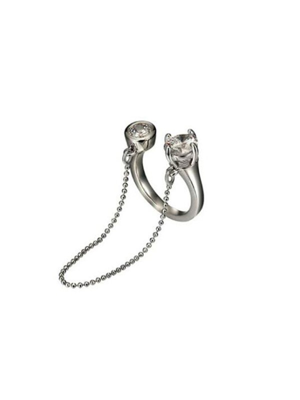 Unique Alloy With Chain Adjustable Rings