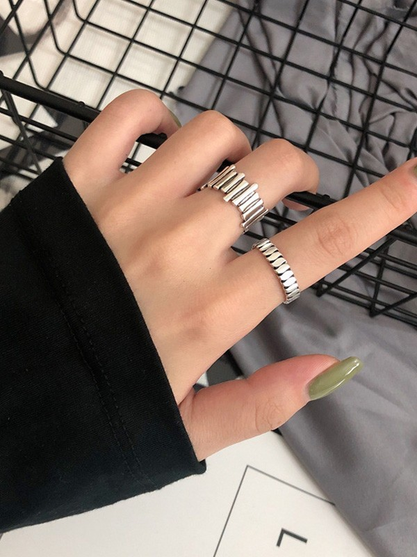 Unique 925 Sterling Silver With Roman Numerals Adjustable Rings