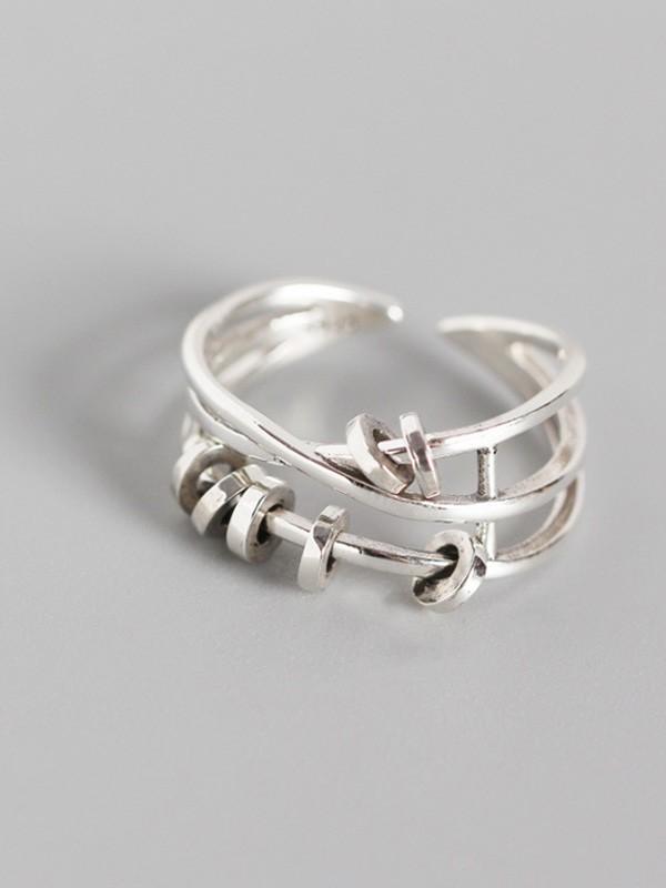 Korean Attractive S925 Silver Hot Sale Adjustable Rings
