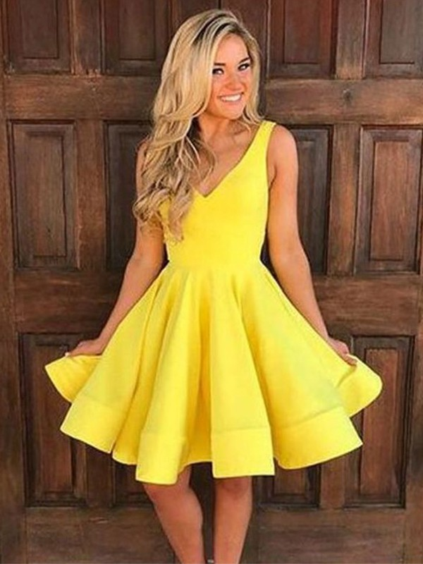 Too Much Fun Princess Style Straps Satin With Ruffles Short/Mini Dresses