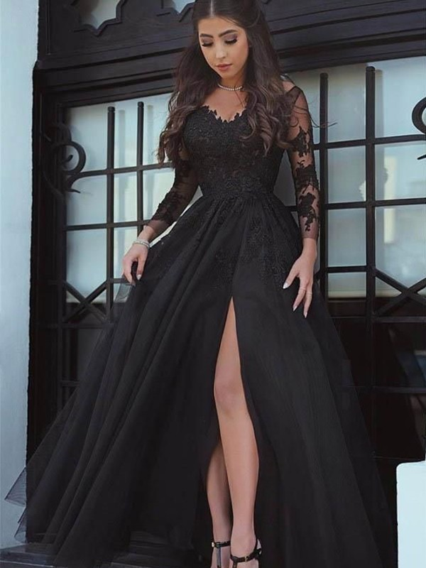 Pleased to be Me Ball Gown Off-the-Shoulder Floor-Length Lace With Applique Dresses