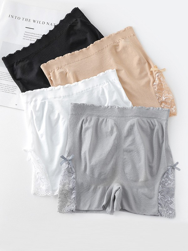 Hot Sale Women's Nylon Lace Elastic Safety Pants/Safety Shorts