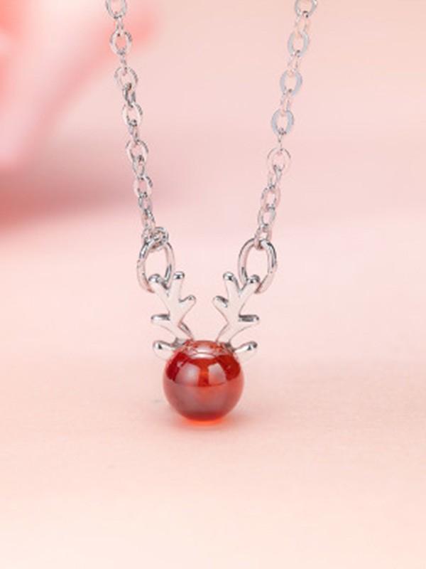 Unique Copper With Antler Necklaces For Ladies