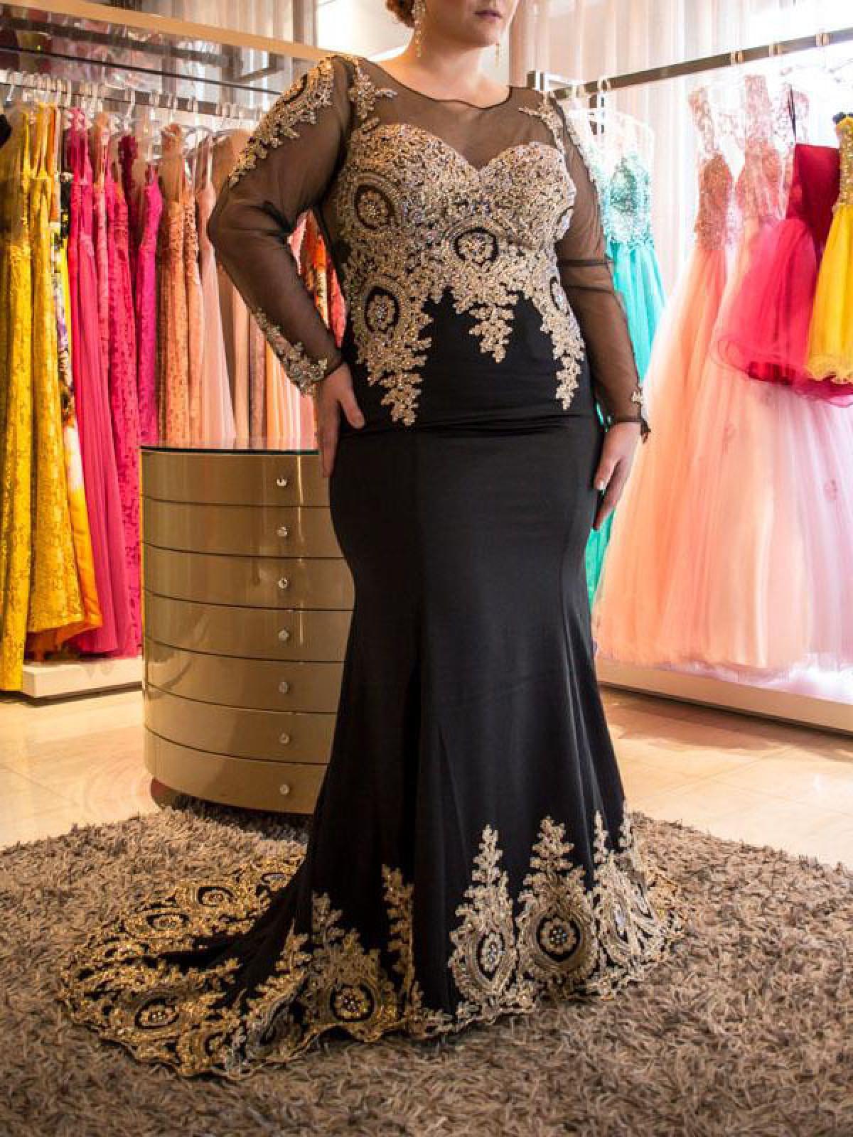 Plus Size Prom Dresses, Elegant Plus Size Prom Dresses 2019 ...