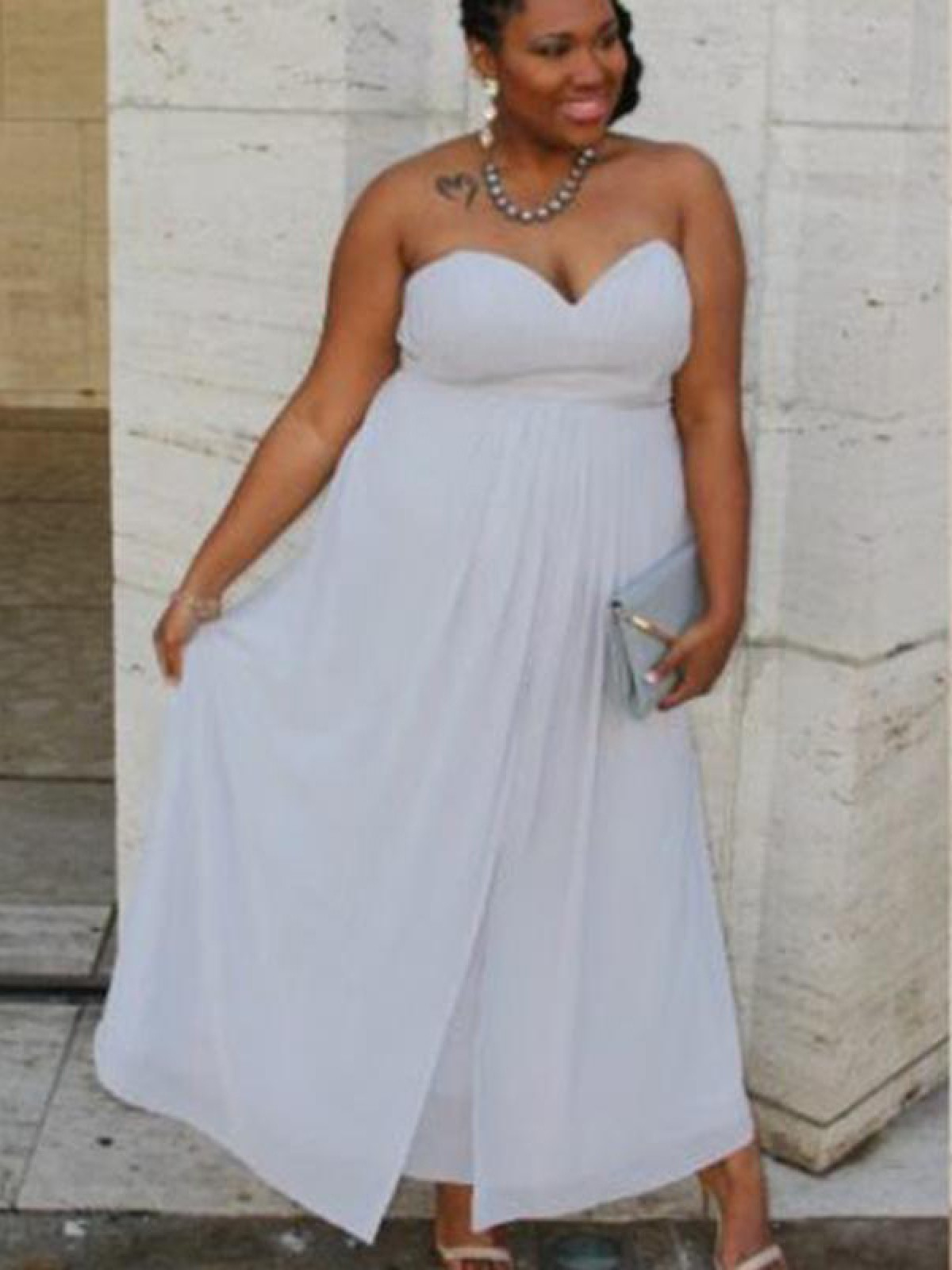 White Plus Size Homecoming Dresses