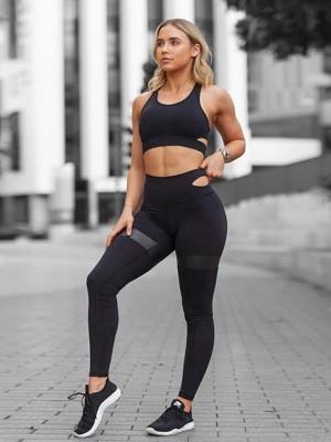 Comfy Cotton Yoga Sports Bra&Leggings