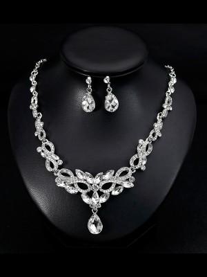 Luxurious Alloy With Rhinestone Jewelry Set For Women
