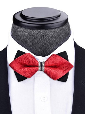 Floral Polyester Bow Tie