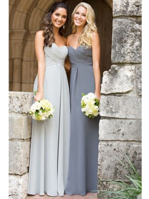 Beautiful You Princess Style Sweetheart Floor-Length Ruched Chiffon Bridesmaid Dresses