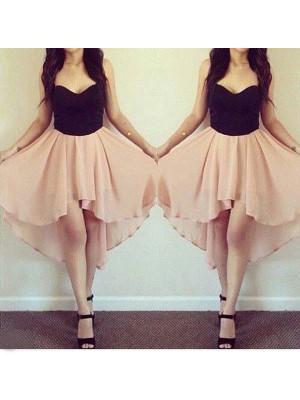 Cheerful Spirit Princess Style Sweetheart Chiffon Short/Mini Dresses