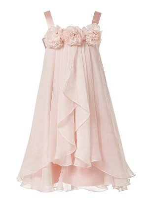 Stylish Refresh Princess Style Straps Hand-Made Flower Chiffon Flower Girl Dresses
