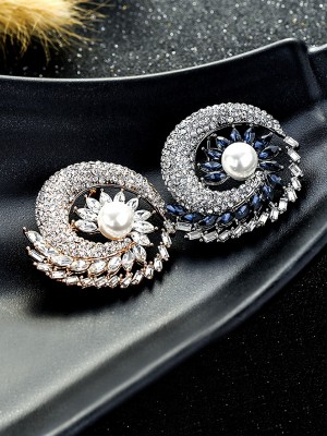 Attractive Alloy With Crystal Ladies' Brooch