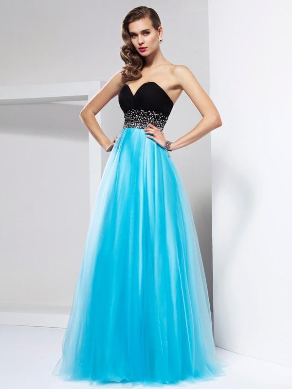 Aesthetic Honesty Princess Style Sweetheart Sash/Ribbon/Belt Long Net Dresses