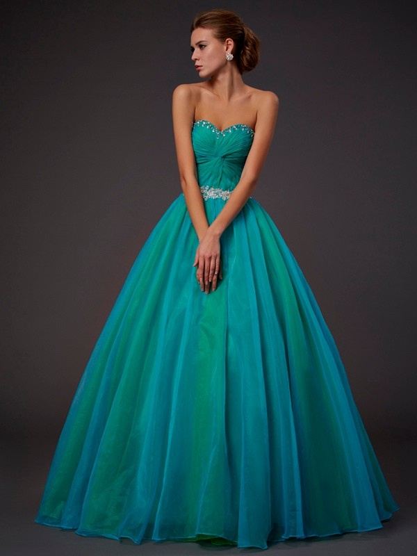 Chic Chic London Ball Gown Sweetheart Long Beading Tulle Quinceanera Dresses