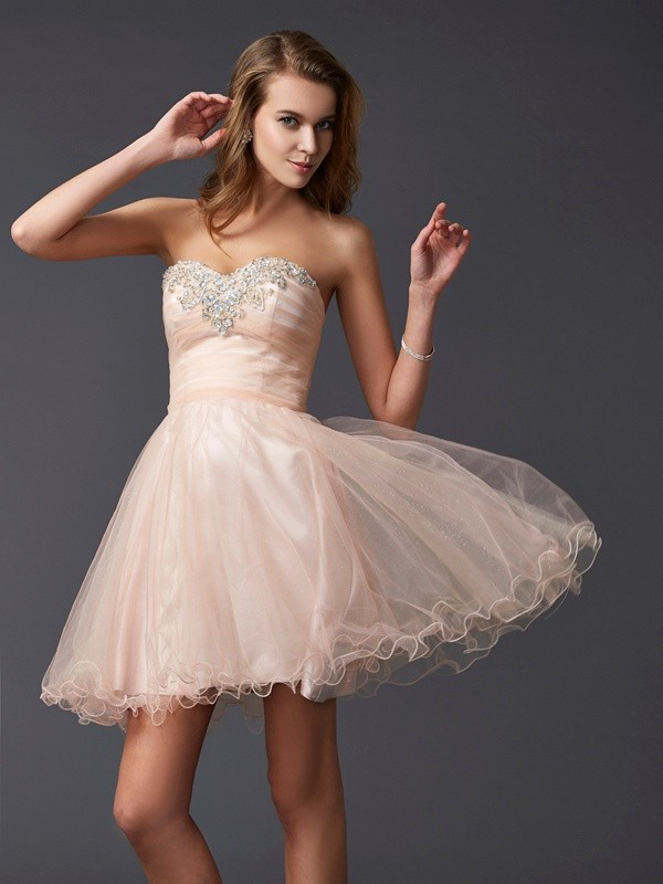 Fabulous Fit Princess Style Sweetheart Short Silk like Satin Homecoming Dresses