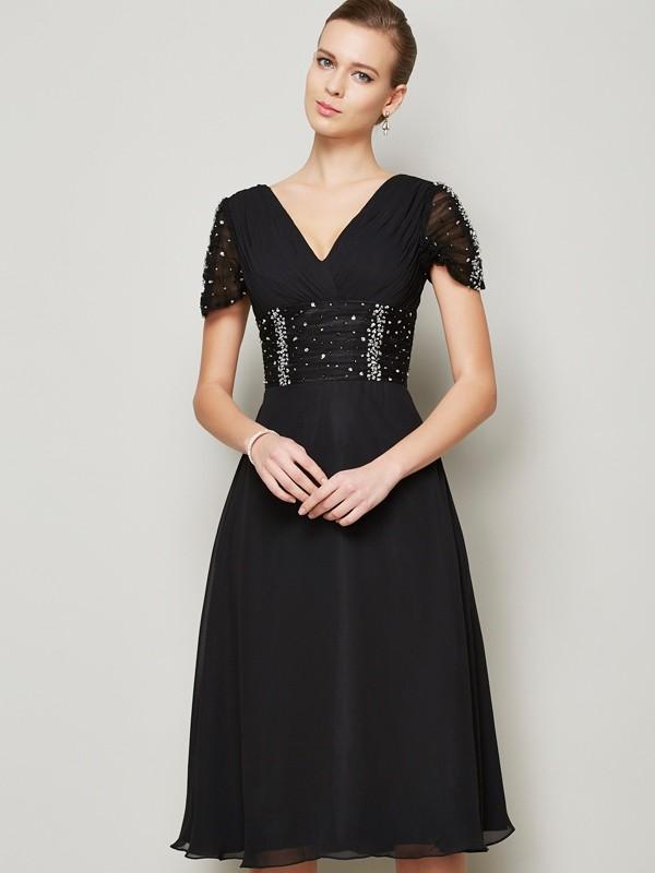 Limitless Looks Princess Style V-neck Ruffles Short Chiffon Homecoming Dresses