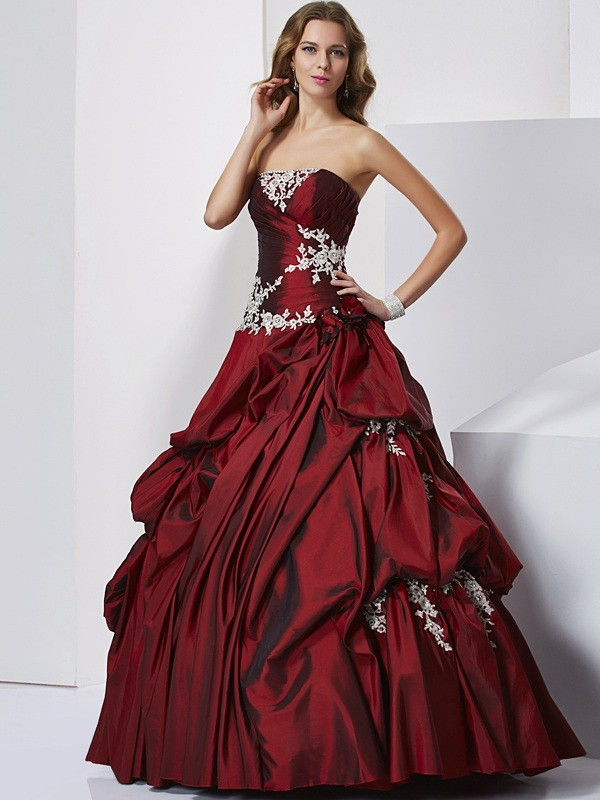 Lively Identity Ball Gown Sweetheart Beading Long Taffeta Quinceanera Dresses