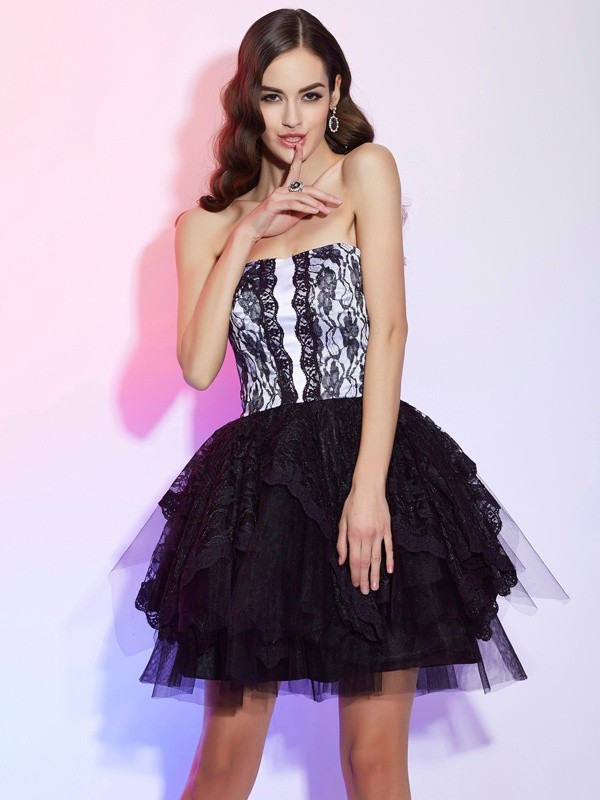 Yours Truly Princess Style Sweetheart Lace Short Lace Homecoming Dresses