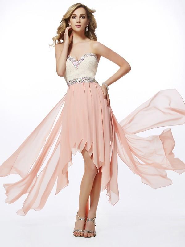 Chic Chic London Princess Style Sweetheart Beading High Low Chiffon Dresses
