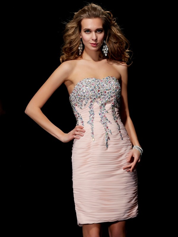 Easily Adored Princess Style Sweetheart Beading Short Chiffon Homecoming Dresses