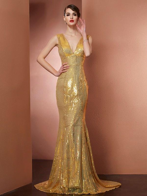 Limitless Looks Princess Style V-neck Lace Long Satin Dresses