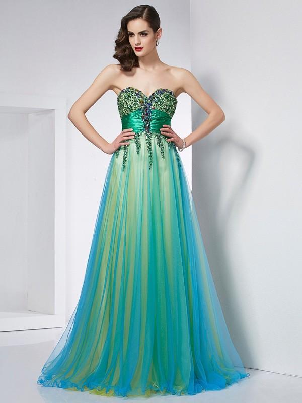 Glitz the Spot Ball Gown Sweetheart Ruffles Long Elastic Woven Satin Dresses