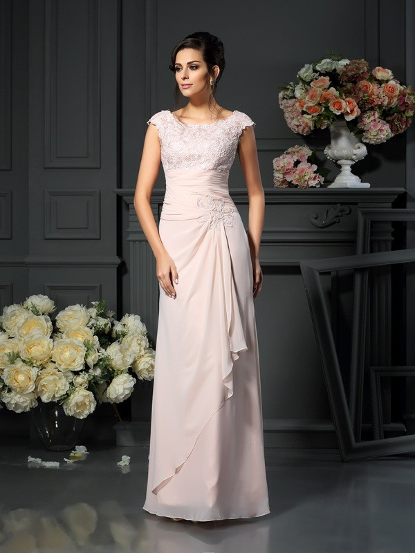First Impressions Princess Style Scoop Lace Long Chiffon Mother of the Bride Dresses
