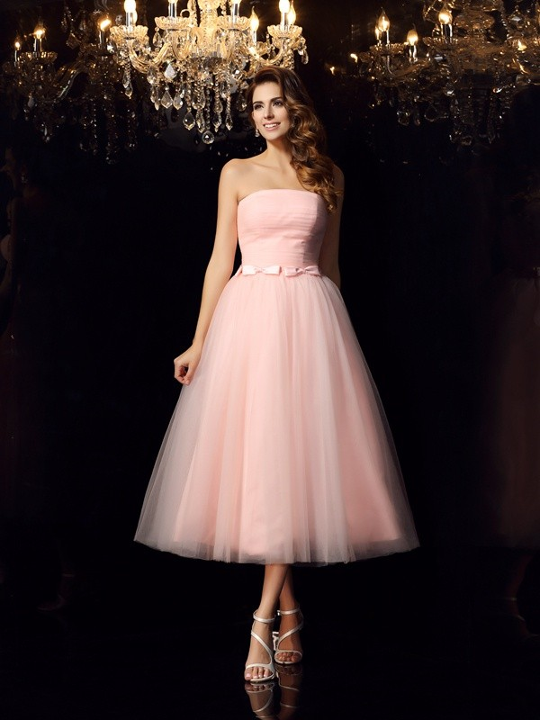 Pleased to be Me Ball Gown Strapless Sash/Ribbon/Belt Short Satin Quinceanera Dresses