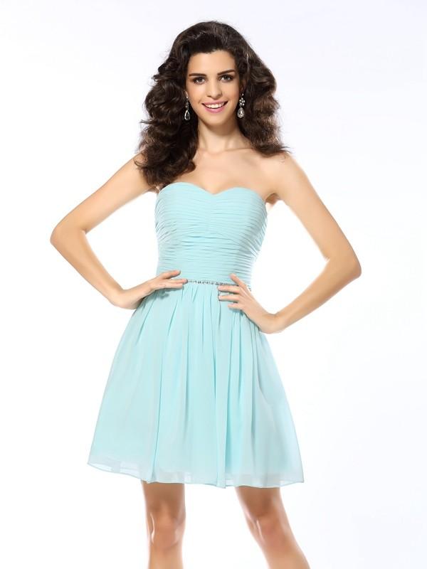 Chic Chic London Princess Style Sweetheart Beading Short Chiffon Cocktail Dresses