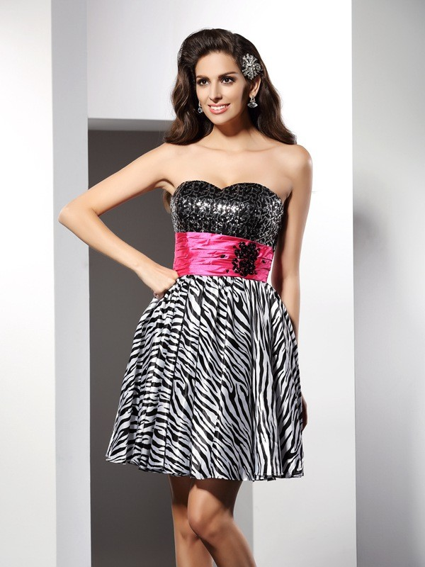 Pleased to be Me Princess Style Sweetheart Short Chiffon Cocktail Dresses