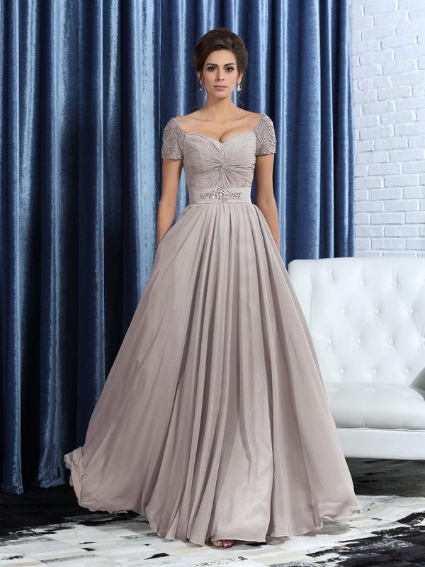 Festive Self Princess Style Sweetheart Beading Long Chiffon Mother of the Bride Dresses