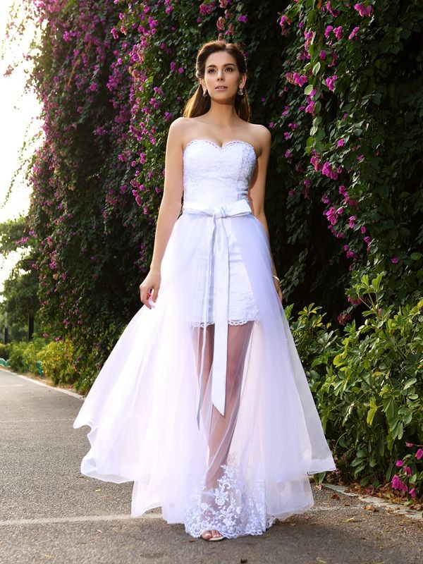 Time to Shine Mermaid Style Sweetheart Applique Long Tulle Wedding Dresses