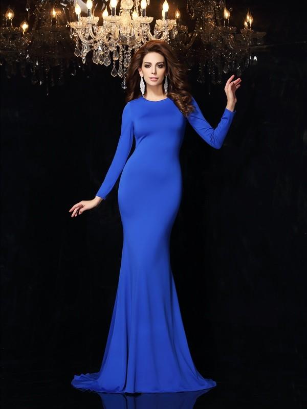Befits Your Brilliance Mermaid Style Scoop Long Spandex Dresses
