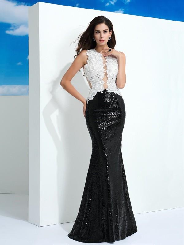 Chic Chic London Sheath Style Scoop Paillette Long Lace Dresses