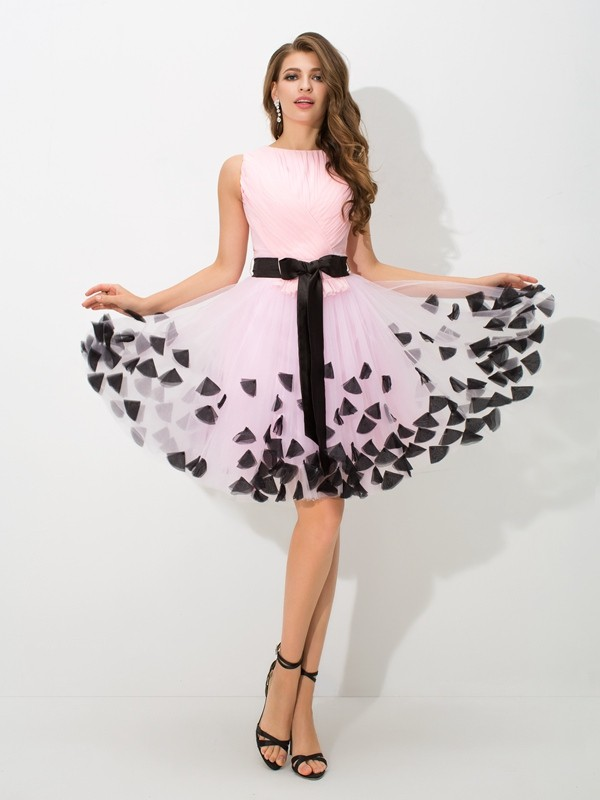 Dashing Darling Princess Style High Neck Bowknot Short Net Cocktail Dresses