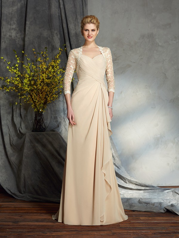 Sweet Sensation Princess Style Sweetheart Lace Long Chiffon Mother of the Bride Dresses