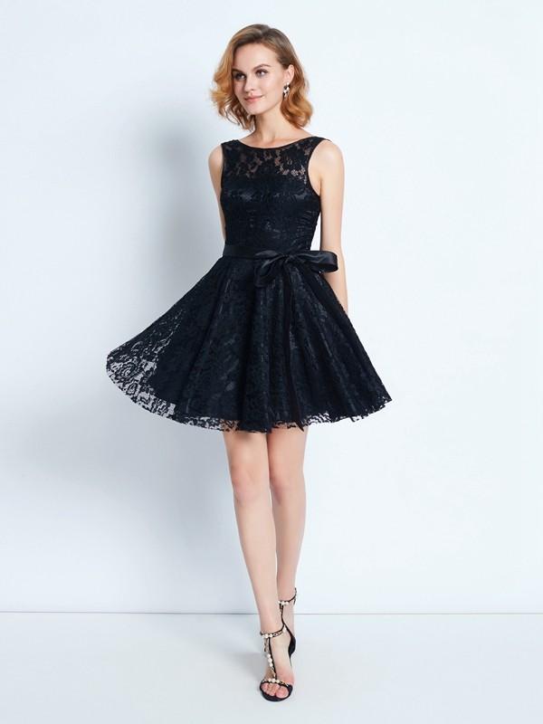 Chic Chic London Princess Style Scoop Lace Sash/Ribbon/Belt Short/Mini Dresses