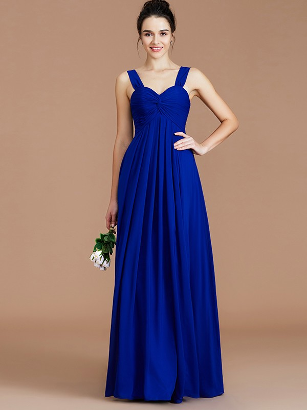 Fabulous Fit Empire Sweetheart With Ruched Floor-Length Chiffon Bridesmaid Dresses