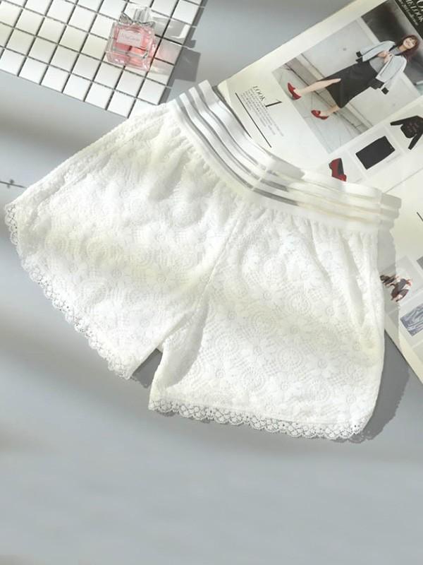 Plus Size Women's Lace Elastic Safety Pants/Safety Shorts