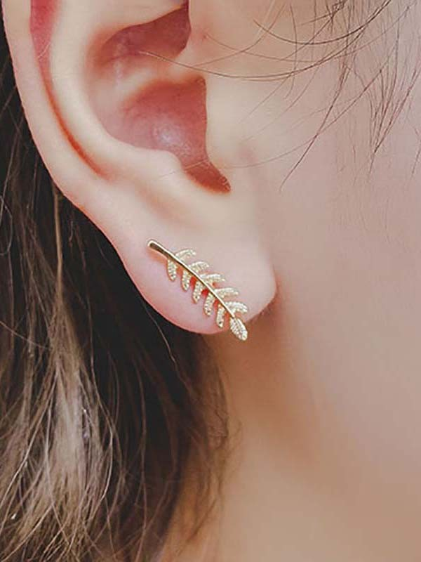 Brilliant Alloy With Leaf Hot Sale Earrings For Women