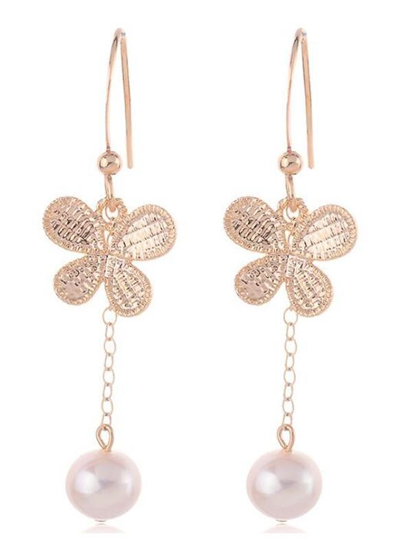 Korean Fancy Pearl With Butterfly Earrings