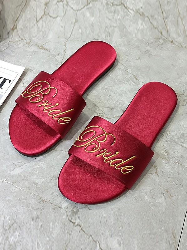 Pretty Cloth Bride Slippers