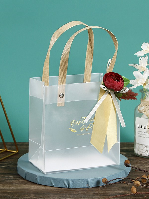 Fancy PVC With Flower Gift Bags