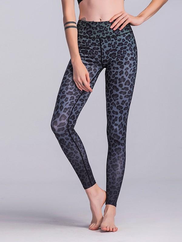 Cosy Cotton Leopard Print Yoga Pants&Leggings