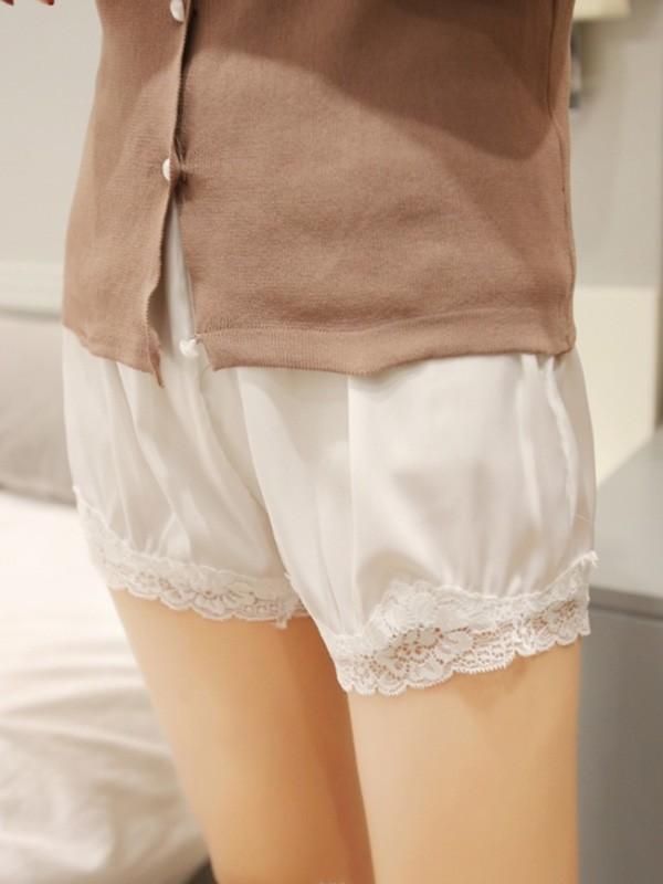 Fashion Women's Polyester Fiber Lace Safety Pants/Safety Shorts