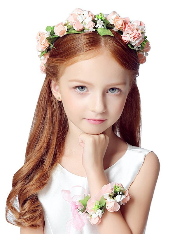 Awesome Plastic With Flower Flower Headbands(Including Wrist Corsage)