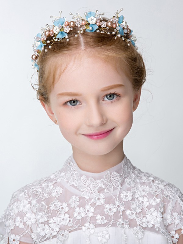 Lovely Alloy With Imitation Pearl Headbands