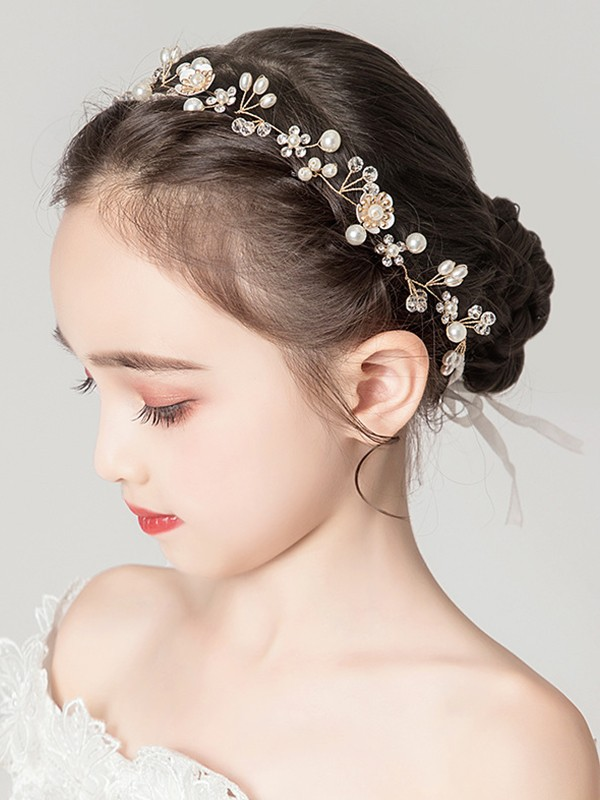 Awesome Alloy With Imitation Pearl Headbands