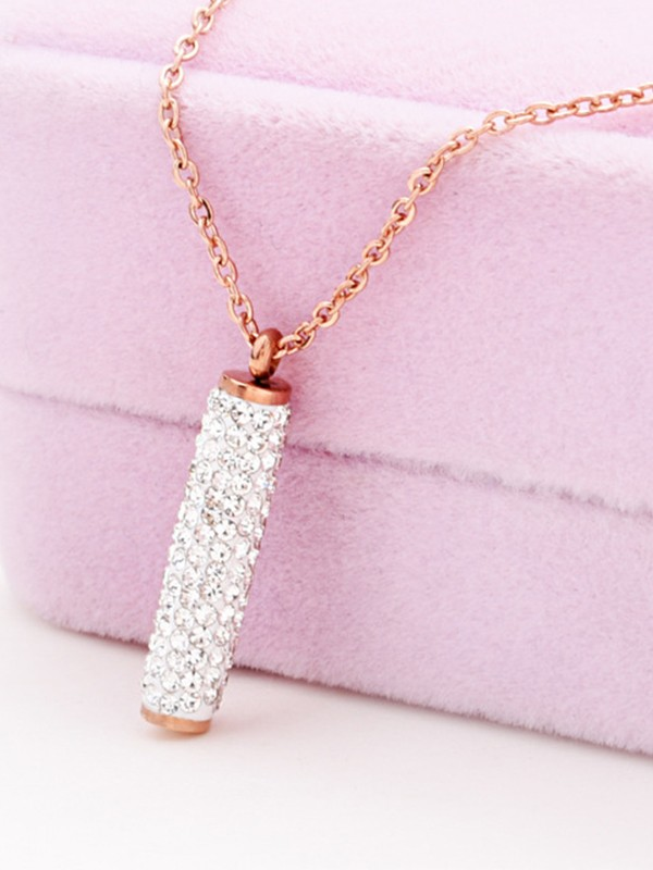 Gorgeous Titanium With Rhinestone Hot Sale Necklaces